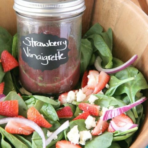 Strawberry and Goat Cheese Spinach Salad