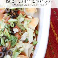 Guiltless Beef Chimichangas