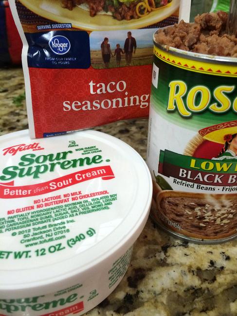 healthy layered dip ingredients