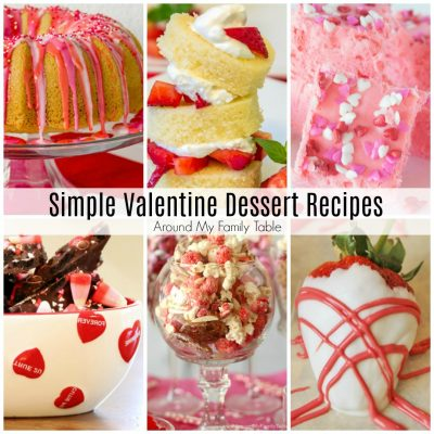 collection of valentine's day desserts
