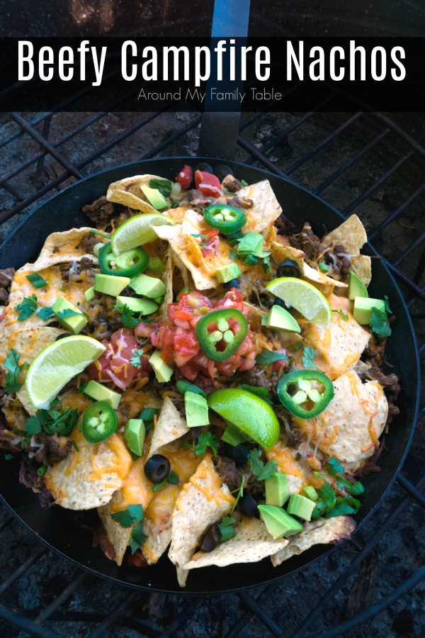 These Beefy Campfire Nachos are ready in 15 minutes and make a great lunch, dinner, or even an afternoon snack whether you are camping or not! They are also a great way to use up leftovers.