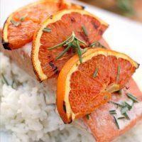 Orange Rosemary Grilled Salmon