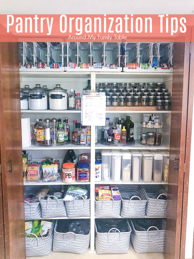 Pantry Organization is the key to creating quick meals and having a clean kitchen. However, small pantries and kitchens are hard to keep organized so that they are functional. These are my favorite pantry organization tips. via @slingmama
