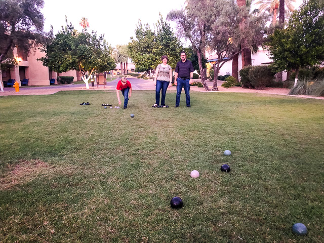 bocce ball at Omni Resort