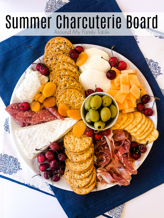 No need to cook this summer, build a beautiful & easy charcuterie board for summer by picking summer produce and lighter cheeses & meats which makes it perfect for light meals or summer entertaining.
