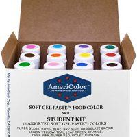 Food Coloring AmeriColor Kit, 12 .75 Ounce Bottles Soft Gel Paste Colors