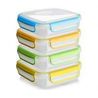 Snap Fresh - 4 Pack of Sandwich Containers (450 ml) - Reusable,