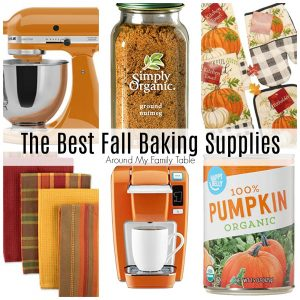 fall baking supplies collage