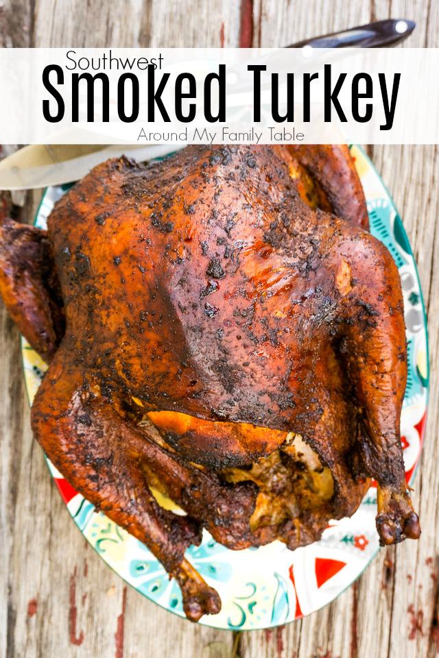 smoked turkey on a platter