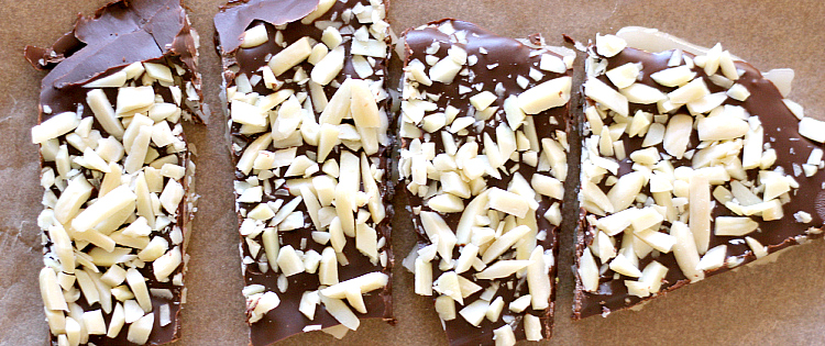 4 pieces of toffee bark