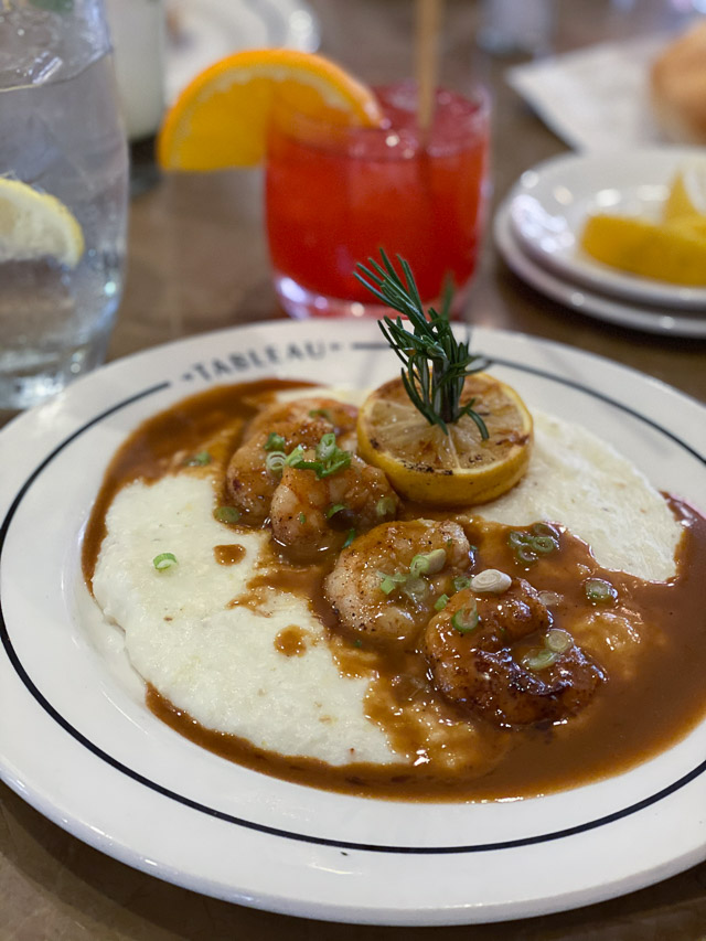 BBQ Shrimp & Grits at Tableau in New Orleans near Jackson Square