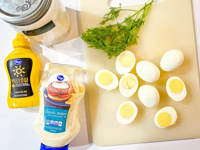 dilled deviled eggs ingredients