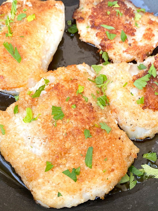 parmesan crusted cod cooking
