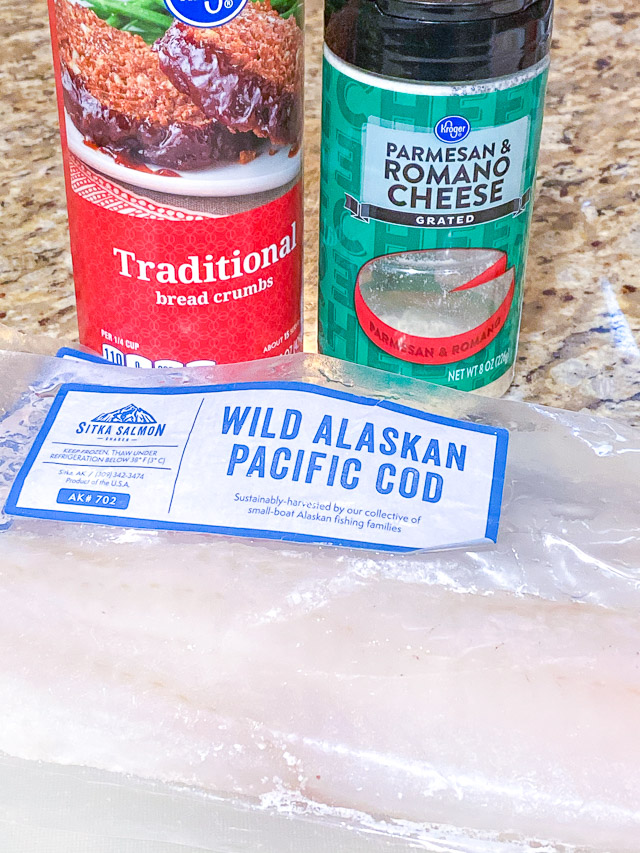 Parmesan Crusted Cod ingredients