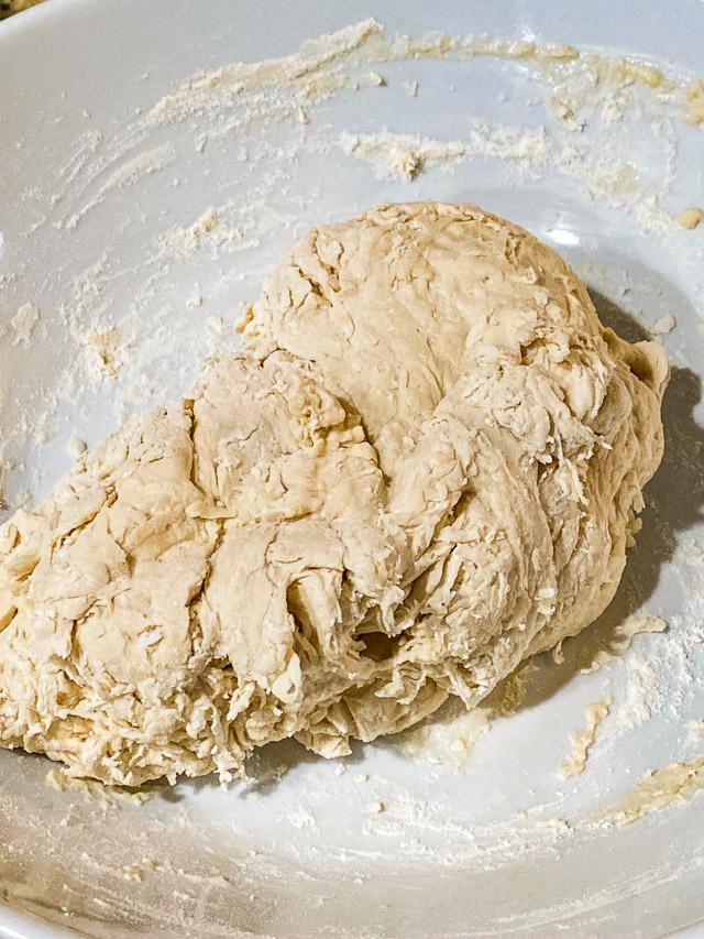 dough rising for no knead bread