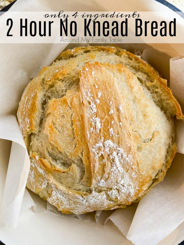 2 Hour No Knead Bread