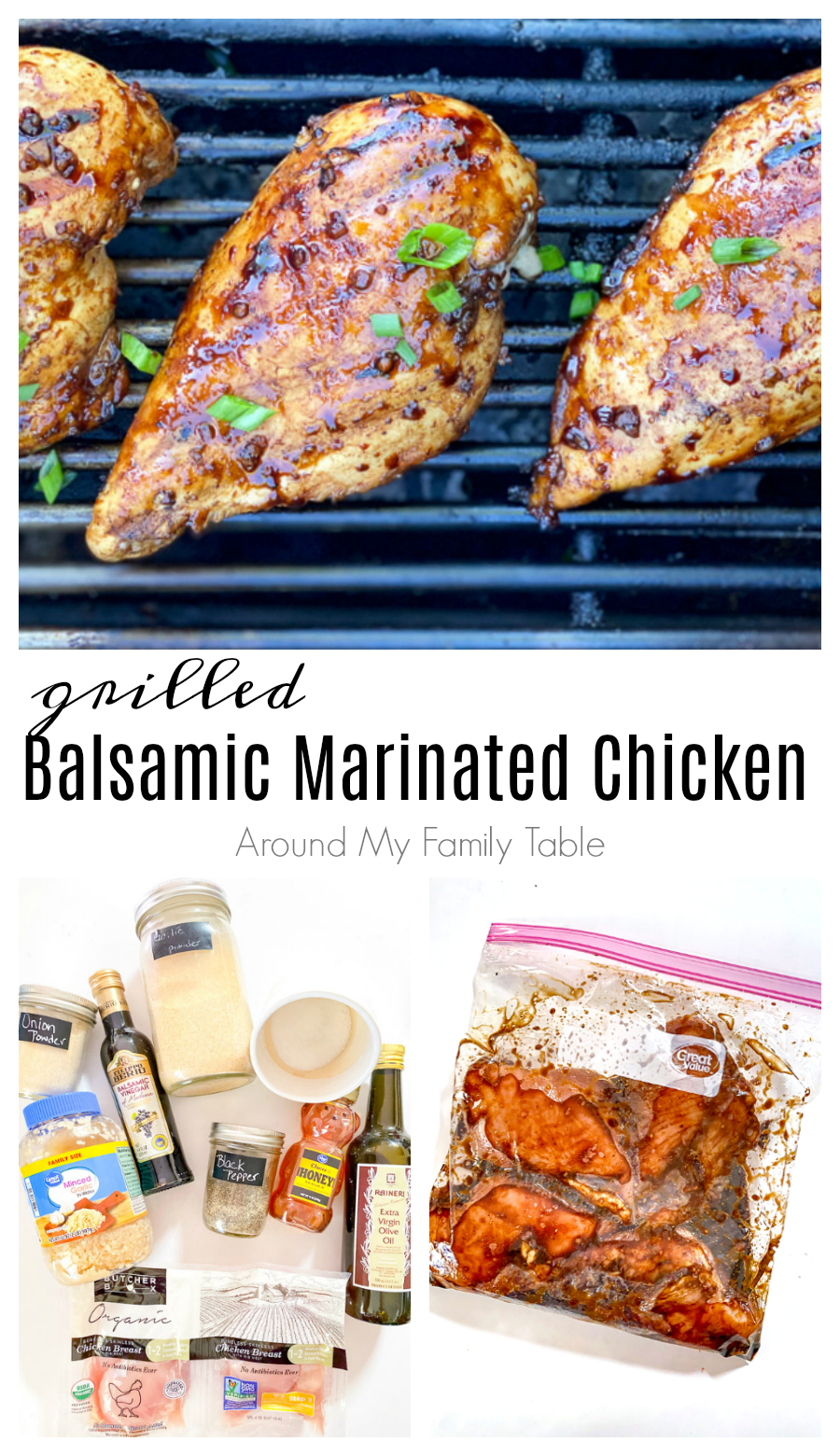A delicious balsamic marinated chicken that is perfectly grilled! via @slingmama