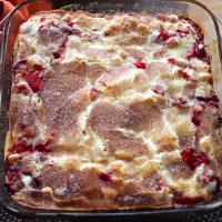 Easy Cranberry and Apple Cake