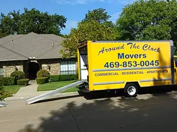 Around the Clock Movers truck in Garland, TX