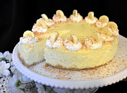 Coconut Banana Cheesecake