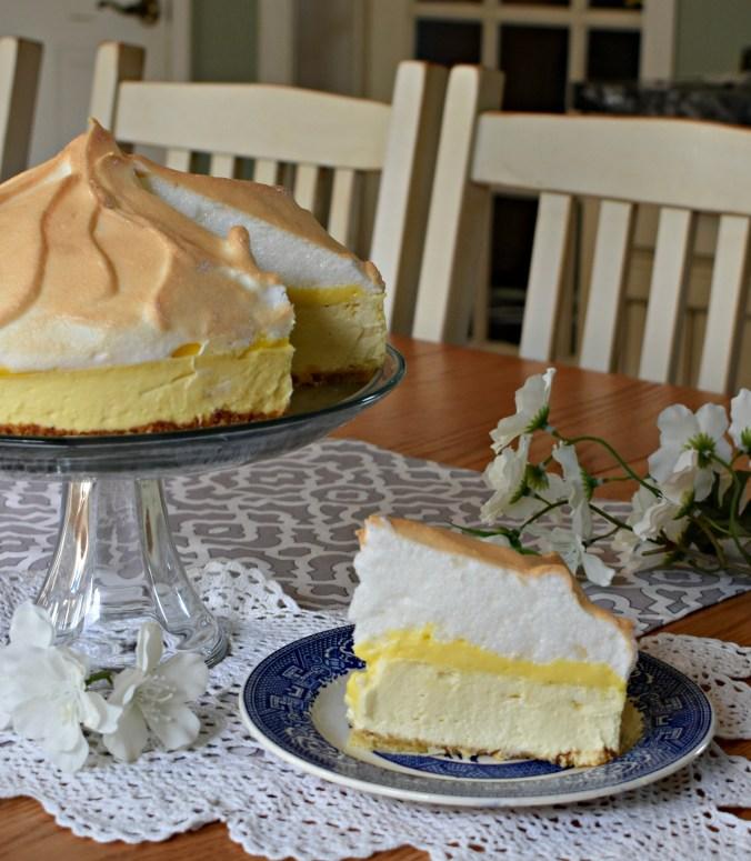 lemon merguine cheesecake