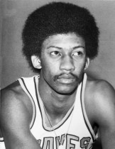 Harris appeared in 11 games for the NBA's Buffalo Braves during the 1974-75 season (credit: NBA Photos).