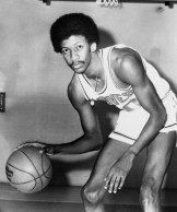 Harris became the second Ram to play in the NBA when he suited up for the Buffalo Braves on Oct. 24, 1974 (credit: NBA Photos).
