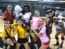 The VCU Volleyball team held practice Thursday in costume.