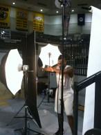 Melvin Johnson is camera shy