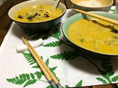 Thai Chicken and Aubergine Yellow Curry