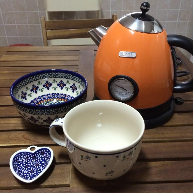 Polish ceramics and kettle