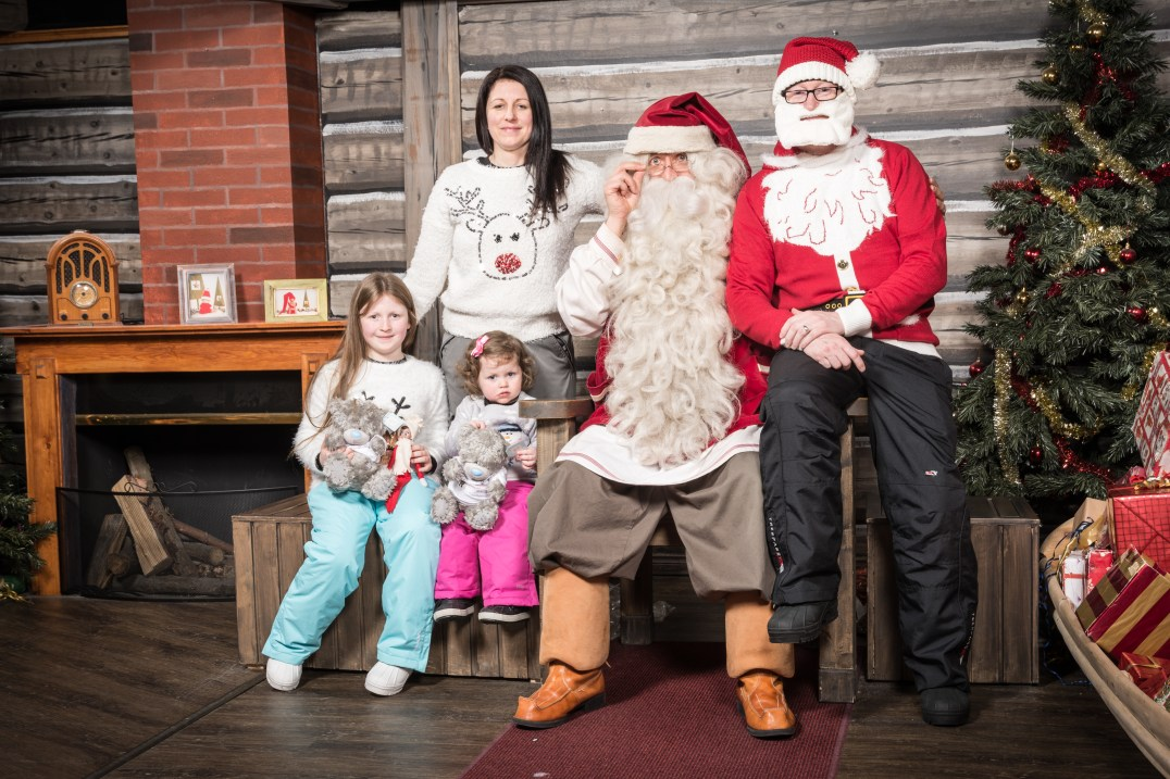 The Callaghan Possy meet Santa Claus at the Santa Claus Holiday Village in Rovaniemi, Finland