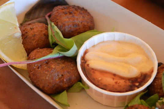 Falafel is served at Dollakis in the Park located in Castle Archdale Country Park, Fermanagh