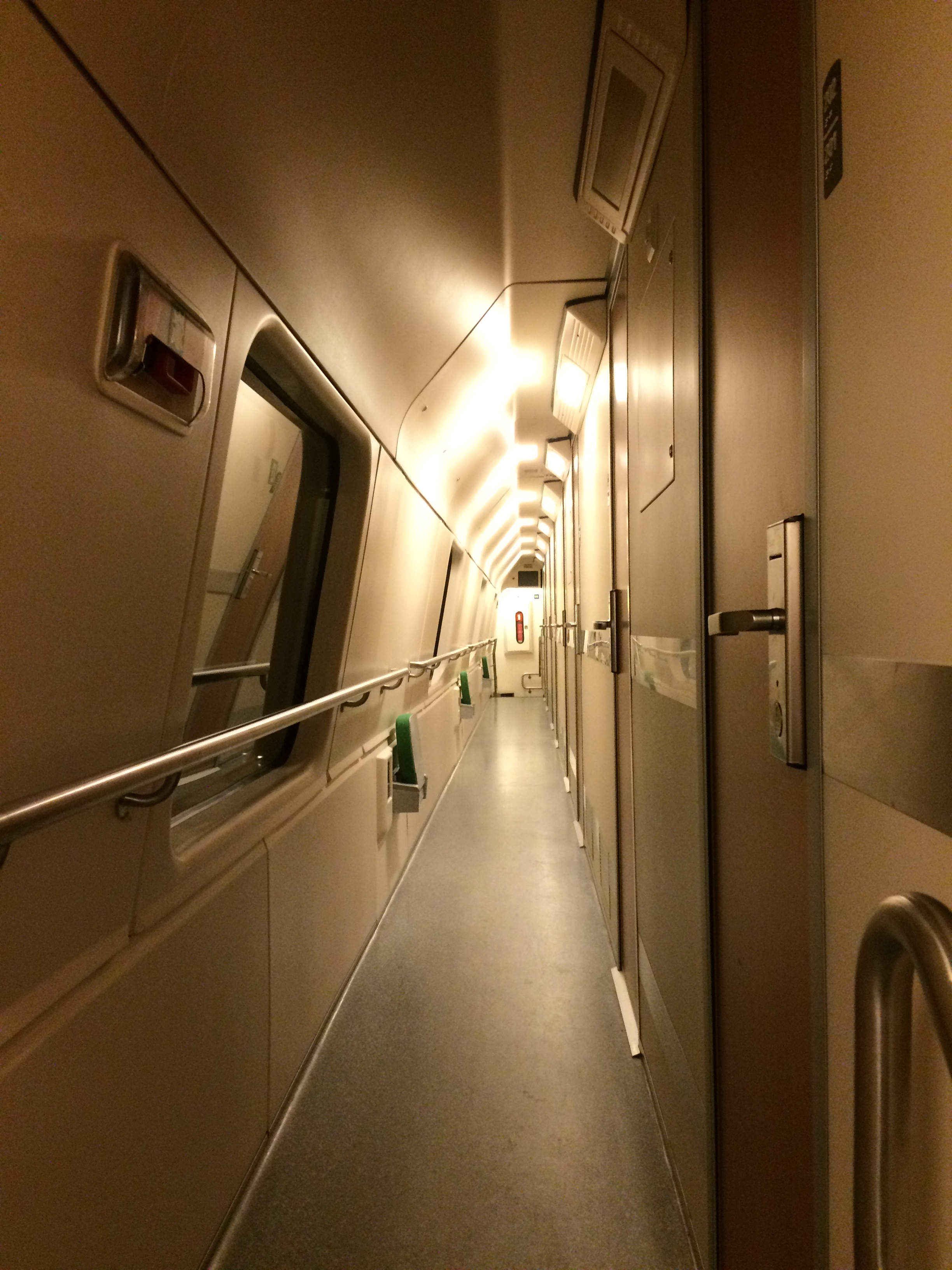 Carriage corridor on the Santa Claus Express