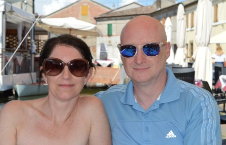 Lyne and Andrew in Comacchio, Italy