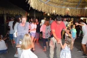 The Jaksic Family enjoying the Mini Disco at Spiaggia e Mare Holiday Park, Italy