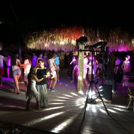 Mini Disco at the Beach Bar in Spiaggia e Mare Holiday Park, Italy