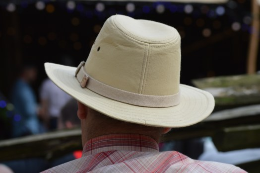 Stetson wearing gentleman at the 26th Annual Bluegrass Music Festival 2017