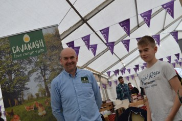 Award winning Cavanagh Free Range Eggs at Festival Lough Erne