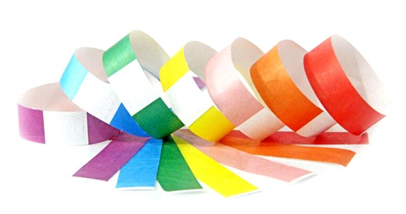 Tyvek wristbands to help identify your children