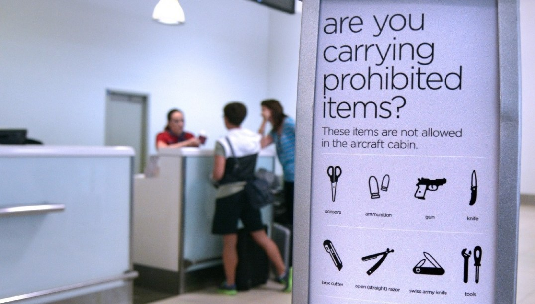 Prohibited items at the airport