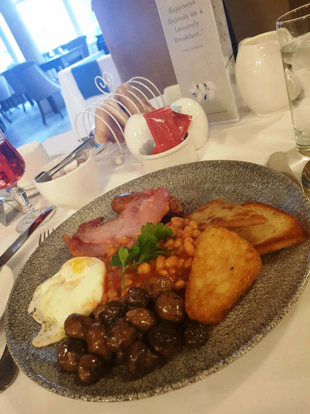Breakfast at the Carleton Restaurant at Corick House Hotel
