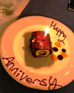 Special Dessert at Carleton Restaurant at Corick House Hotel