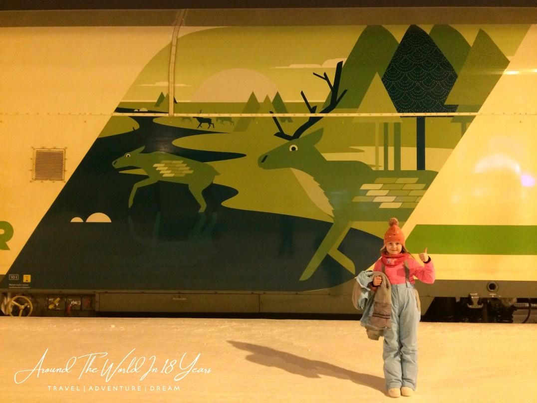 The Polar Express from Rovaniemi to Helsinki