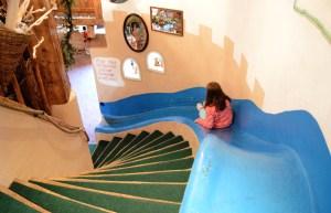 Indoor slide at Ski Center Latemar, Italy