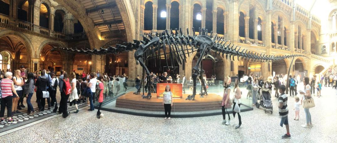 Visiting Dippy at the Natural History Museum in London