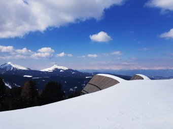 Roof view of the Dolomites from Oberhols in Obereggen