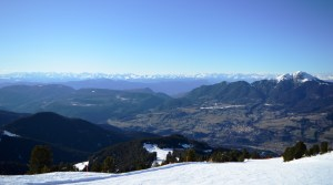 Spectacuar views of the Italian Dolomites from Alpe Cermis