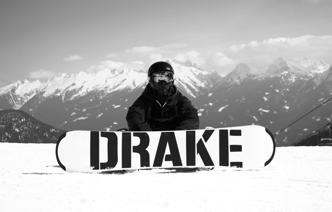 Drake Sowboards at Ski Center Latemar in the Italian Dolomites