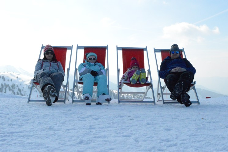 Relaxing at the top of Alpe Cermis